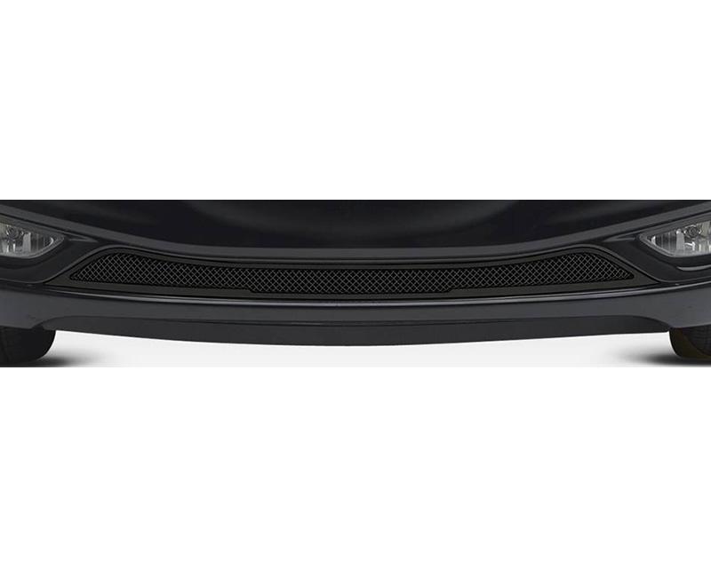 2011-2013 Hyundai Sonata Upper Class Bumper Grille, Black, 1 Pc, Overlay - PN #52490