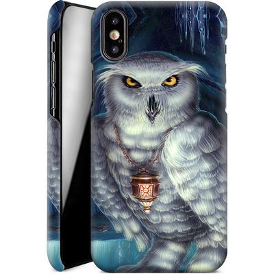 Apple iPhone X Smartphone Huelle - Ed Beard Jr - Wizard Messenger Owl von TATE and CO