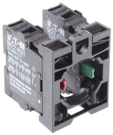 Eaton M22 Contact Block - 1NO 1NC 500 V