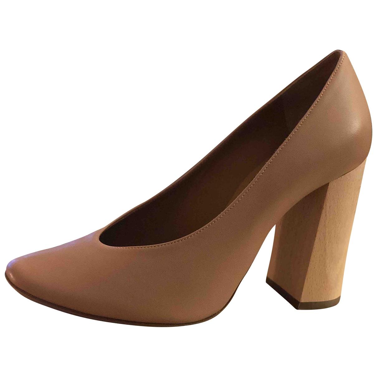 Chloé \N Beige Leather Heels for Women 36 EU