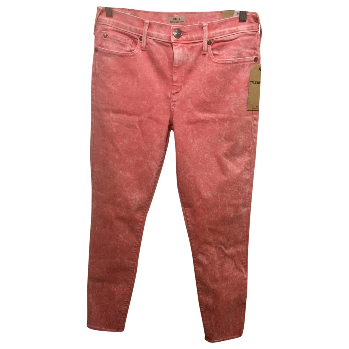 True Religion \N Pink Cotton - elasthane Jeans for Women 29 US