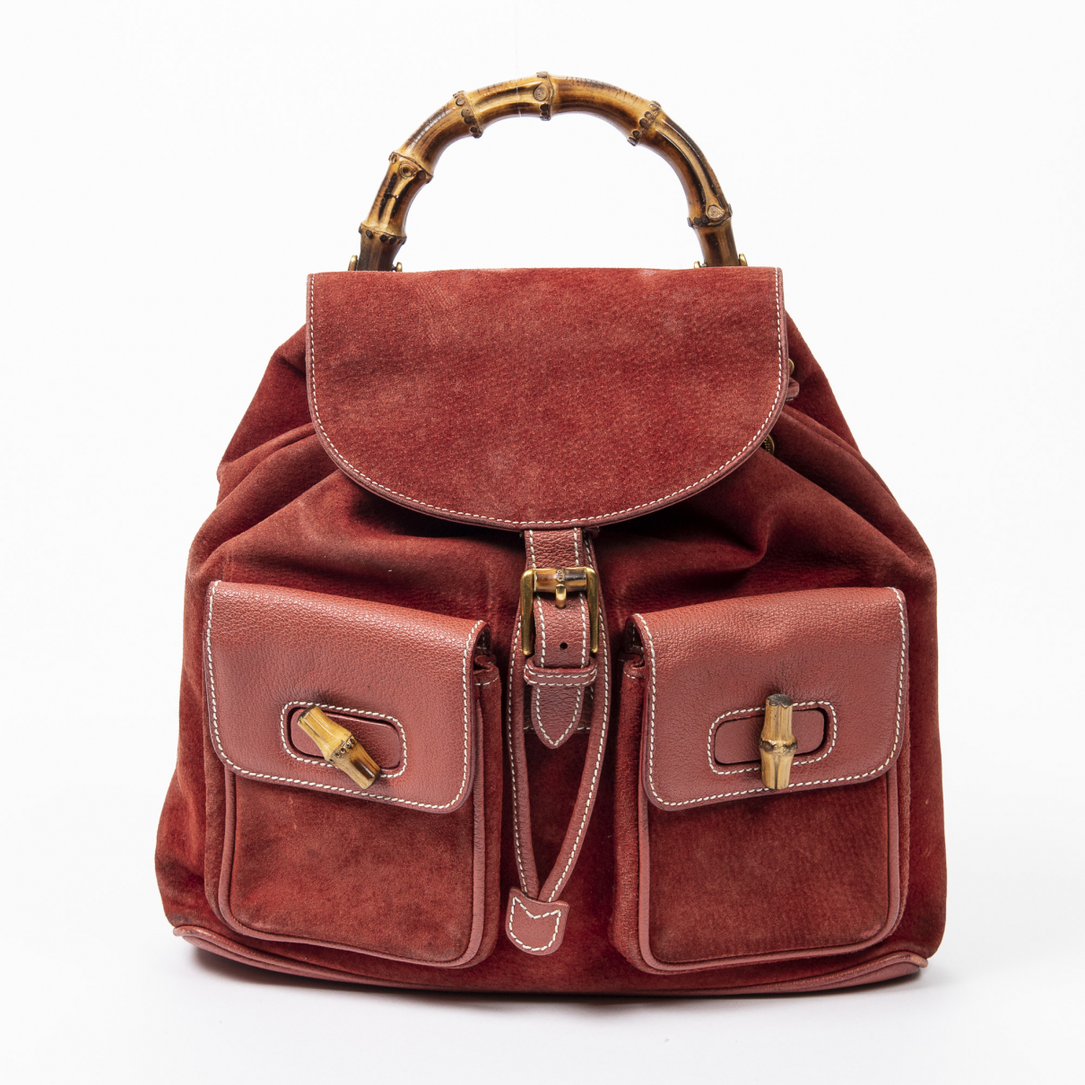 Gucci \N Red Leather backpack for Women \N