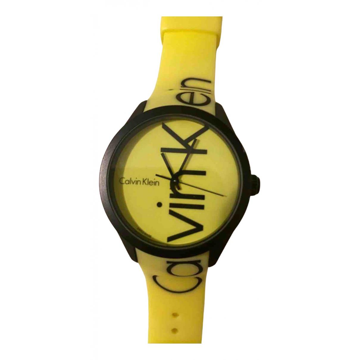 Calvin Klein - Montre   pour homme en autre - jaune
