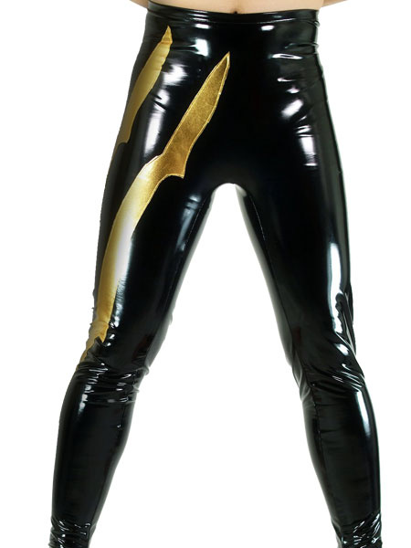 Milanoo Disfraz Halloween Pantalones de Catwoman metalico brillantes negro y oro Halloween