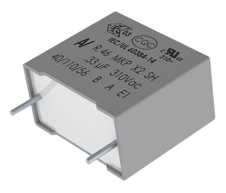 KEMET 470nF Polypropylene Capacitor PP 310 V ac, 630 V dc ±10% Tolerance Through Hole R46 Series (10)