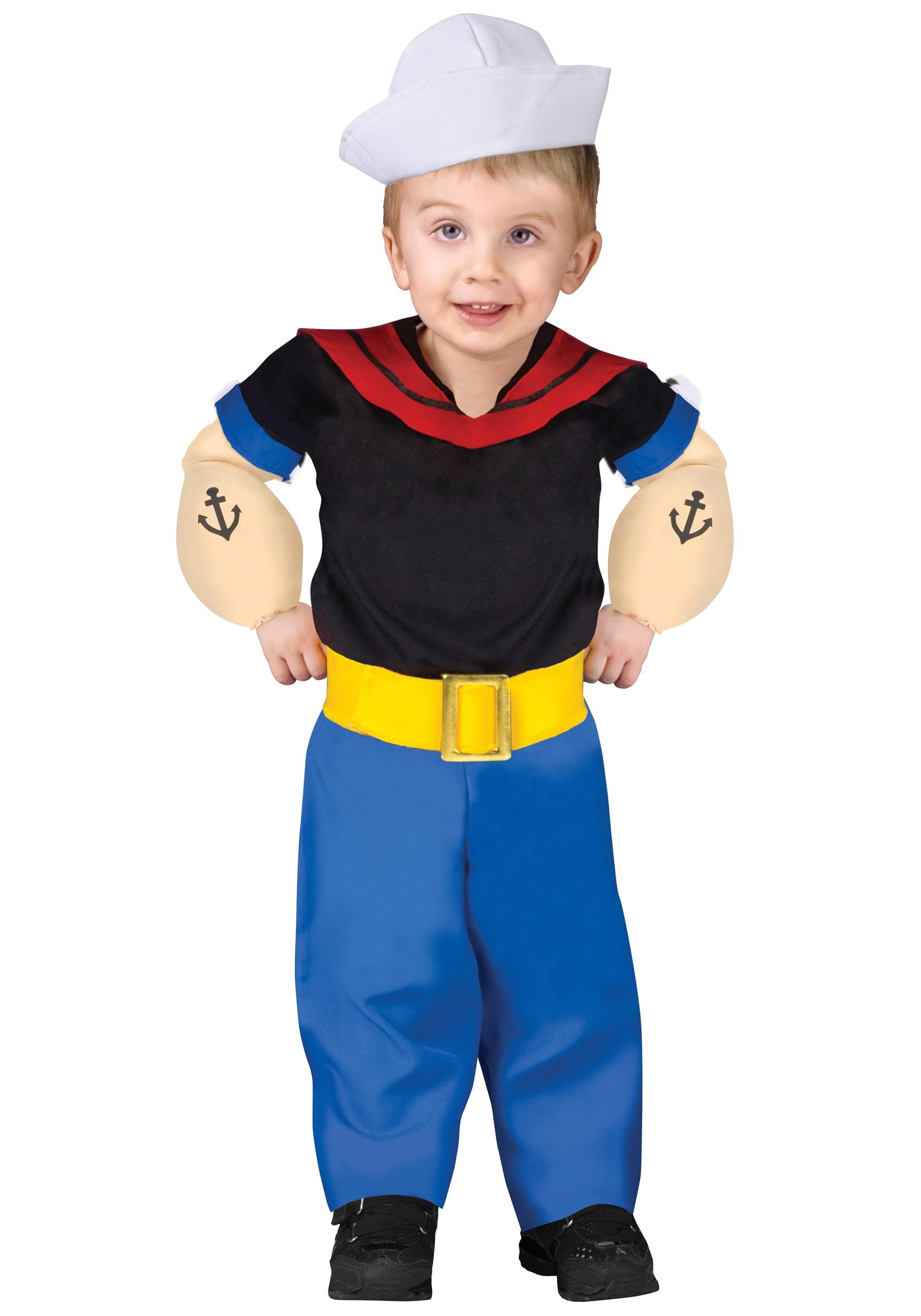 Popeye the Cartoon Toddler Costume