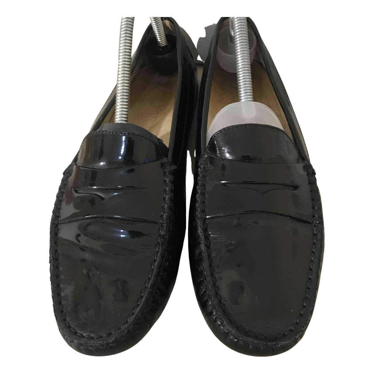 Tod's N Black Patent leather Flats for Women 40 EU