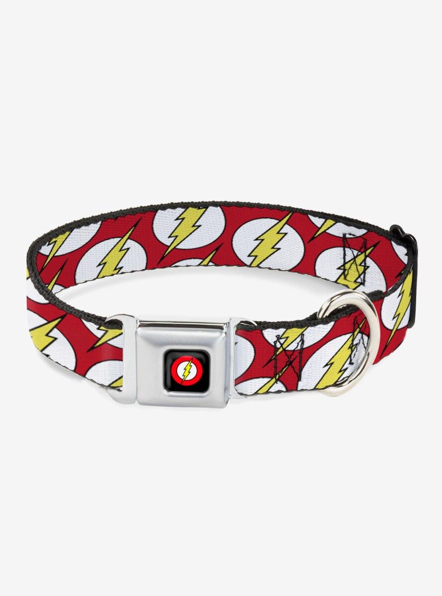 DC Comics Flash Logo Scattered Dog Collar Seatbelt Buckle