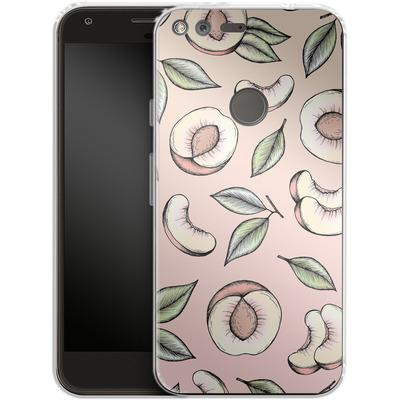 Google Pixel XL Silikon Handyhuelle - Peach Please von Barlena