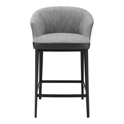 Beckett Collection EJ-1028-15 Counter Height Stool with Injection Foam in Gray