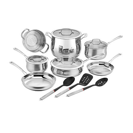 Cuisinart Contour 14-pc. Stainless Steel Cookware Set With Tools, One Size , Stainless Steel