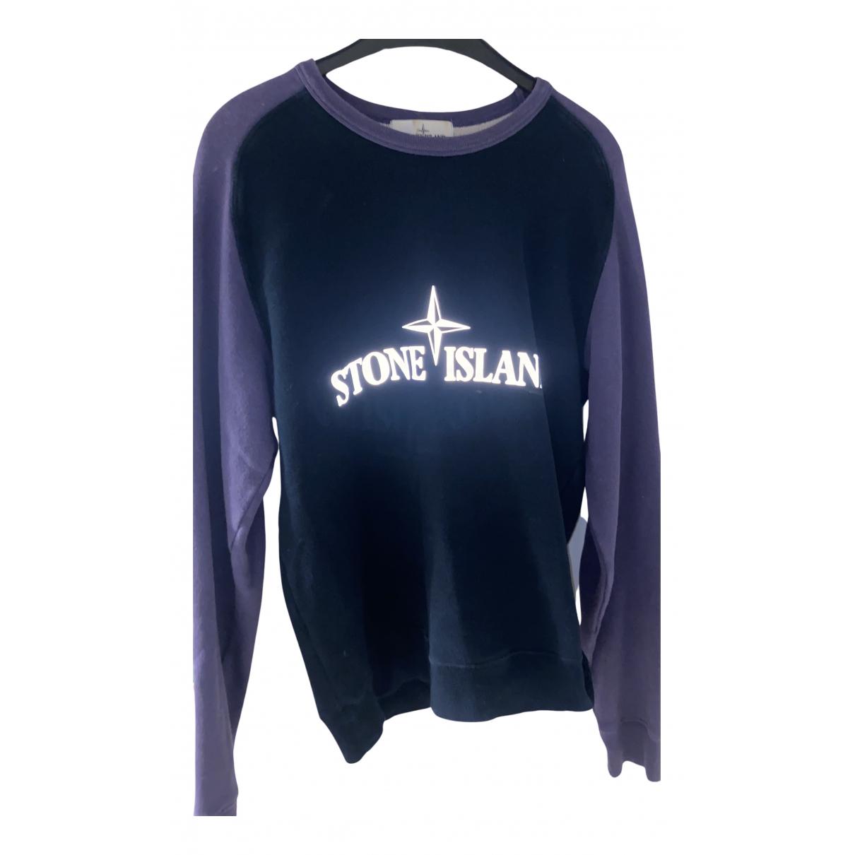 Stone Island \N Pullover.Westen.Sweatshirts  in  Lila Baumwolle