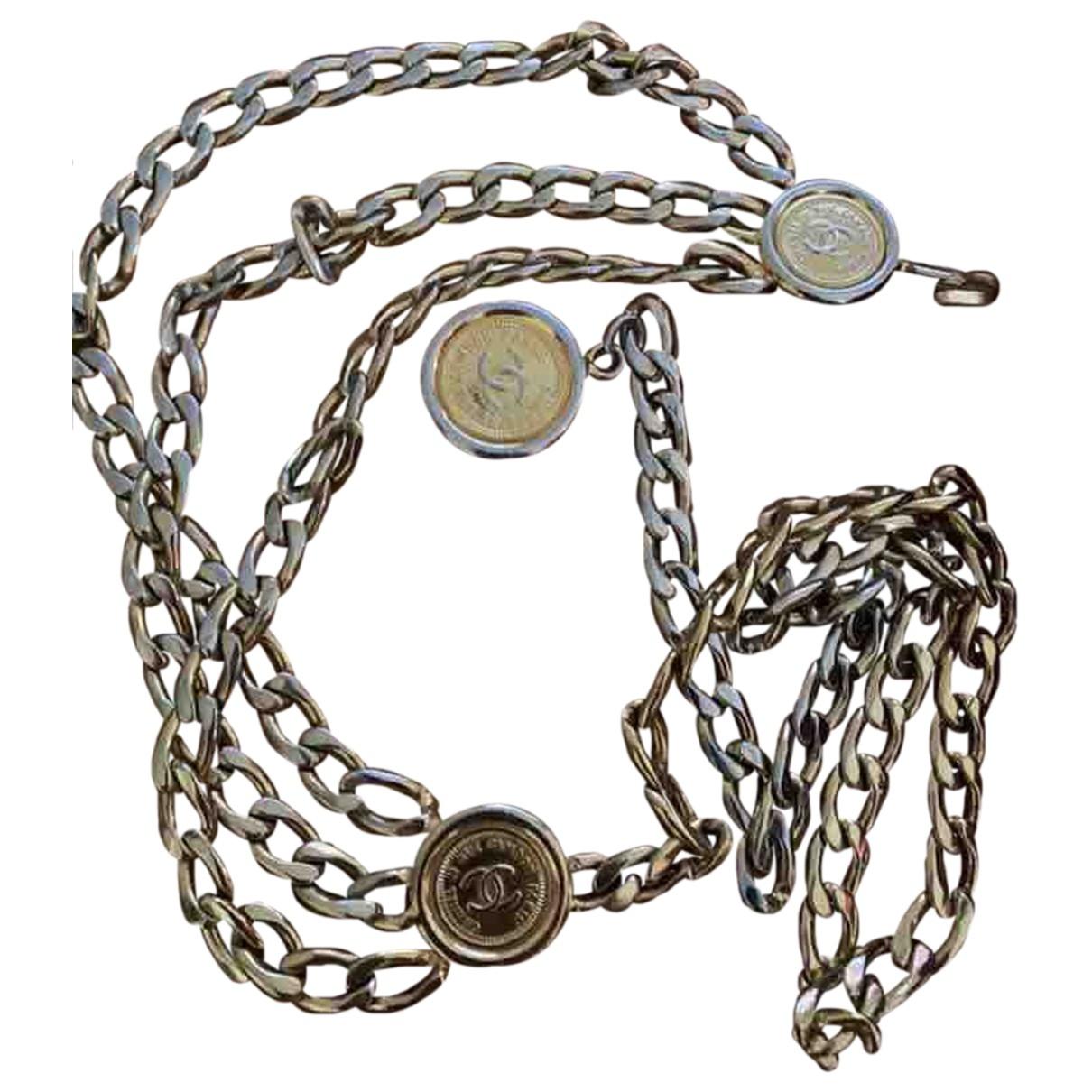 Chanel \N Guertel in  Gold Metall
