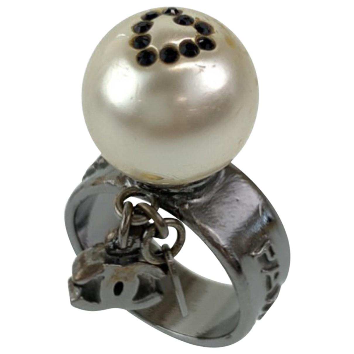 Chanel - Bague   pour femme en metal - blanc