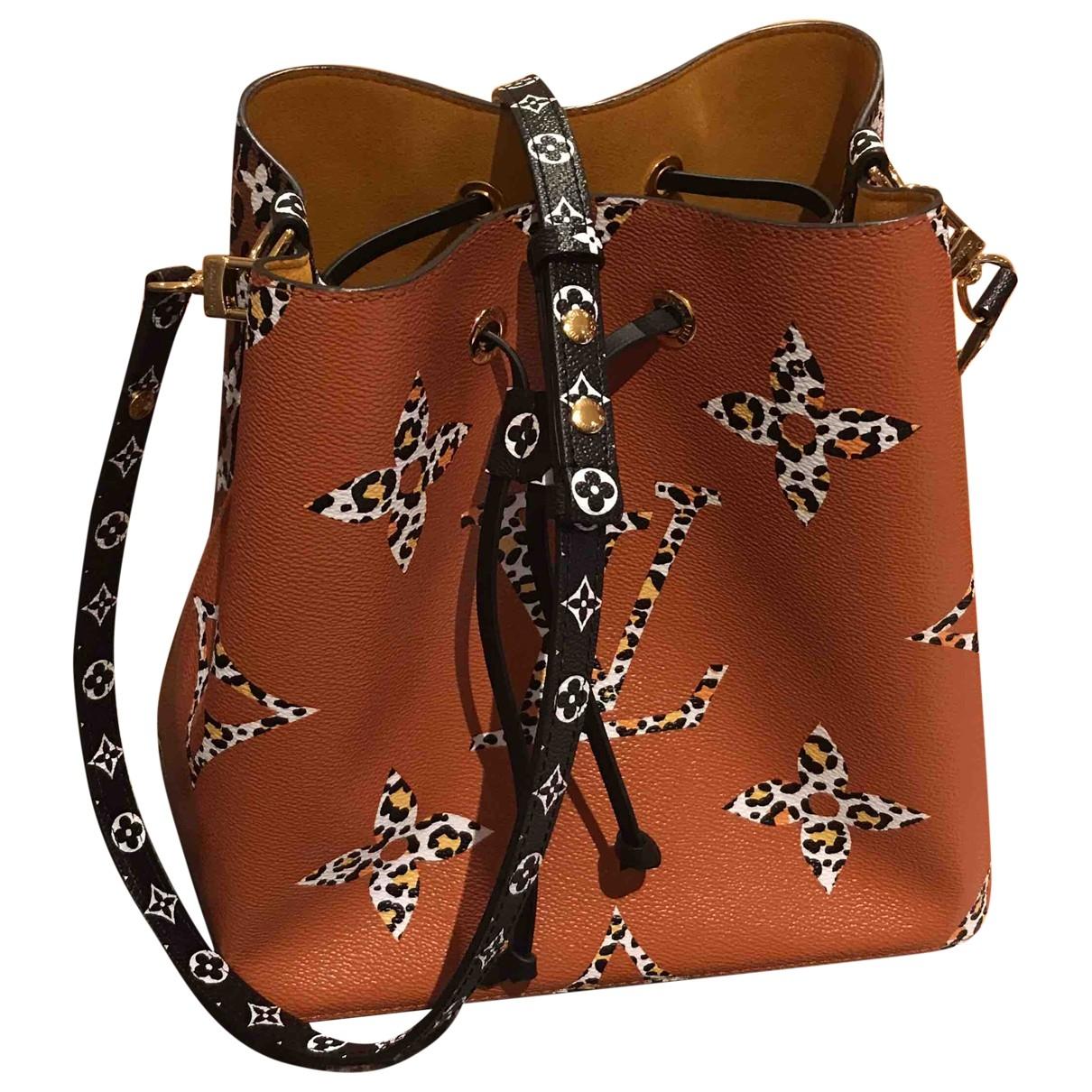 Louis Vuitton NeoNoe Handtasche in  Kamel Leinen