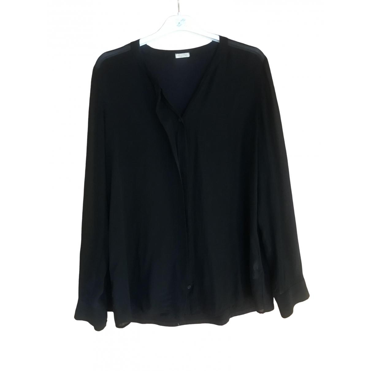 Falconeri - Veste   pour femme en soie - noir