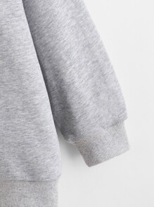 Girls Letter and Graphic Print Pullover