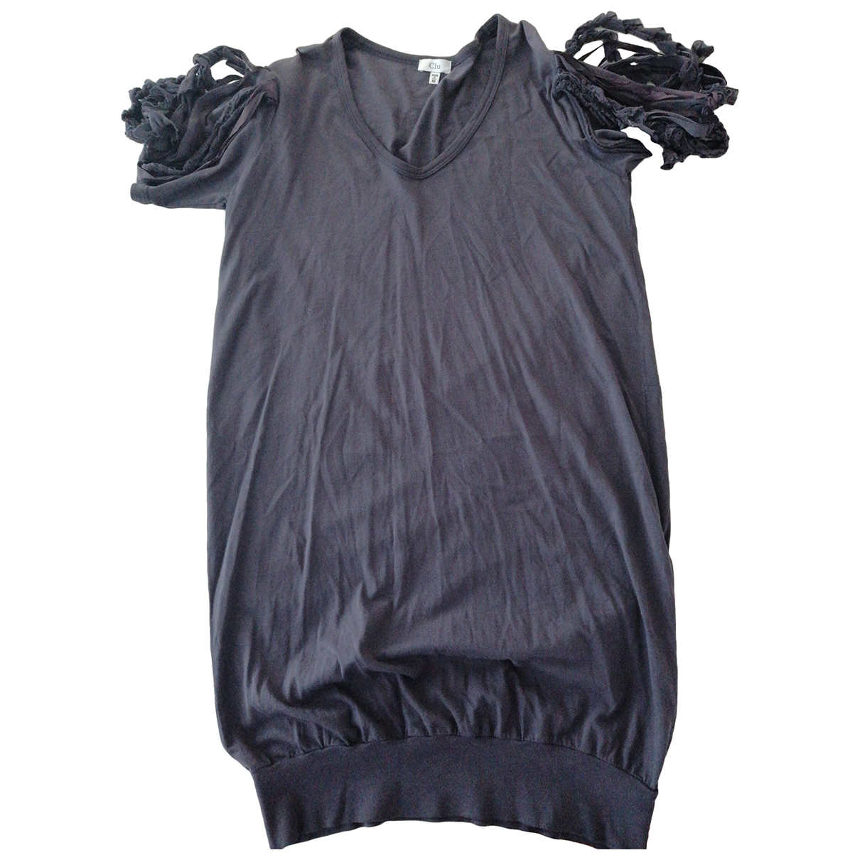 Clu \N Kleid in  Anthrazit Baumwolle