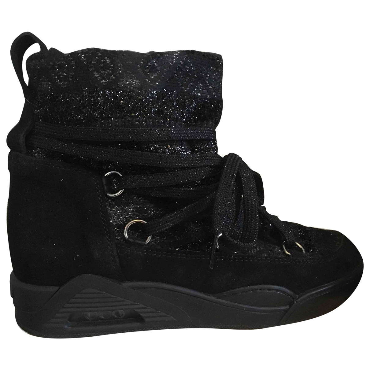 Serafini - Boots   pour femme en toile - noir