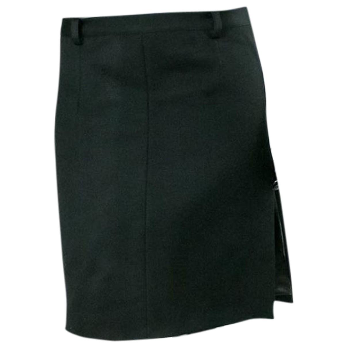 Vetements - Jupe   pour femme en coton - noir