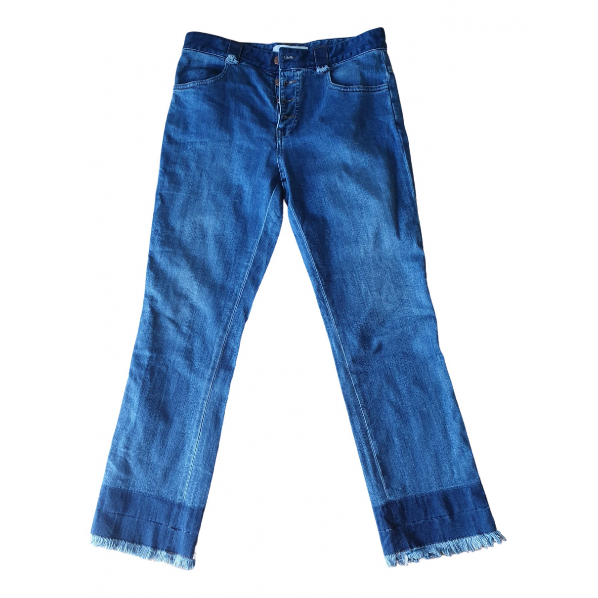See By Chloé \N Blue Cotton - elasthane Jeans for Women 40 FR