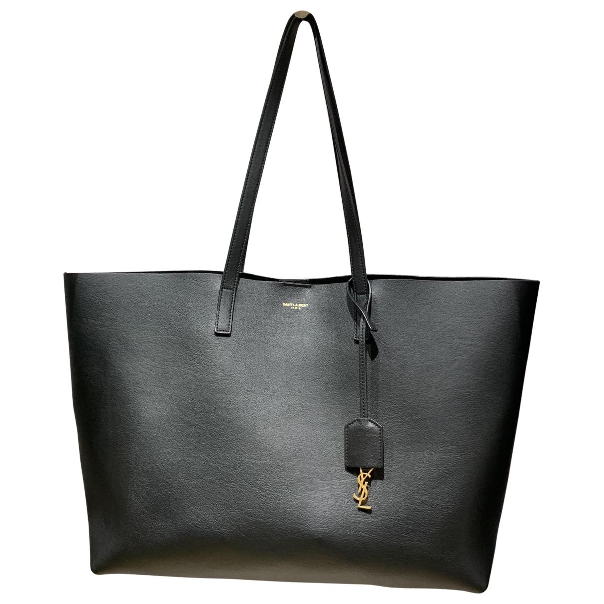 Saint Laurent Shopping Black Leather handbag for Women \N