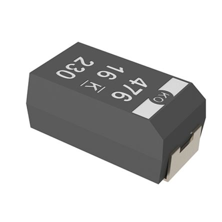 KEMET Tantalum Capacitor 470μF 6.3V dc Polymer Solid ±20% Tolerance , T520 (500)