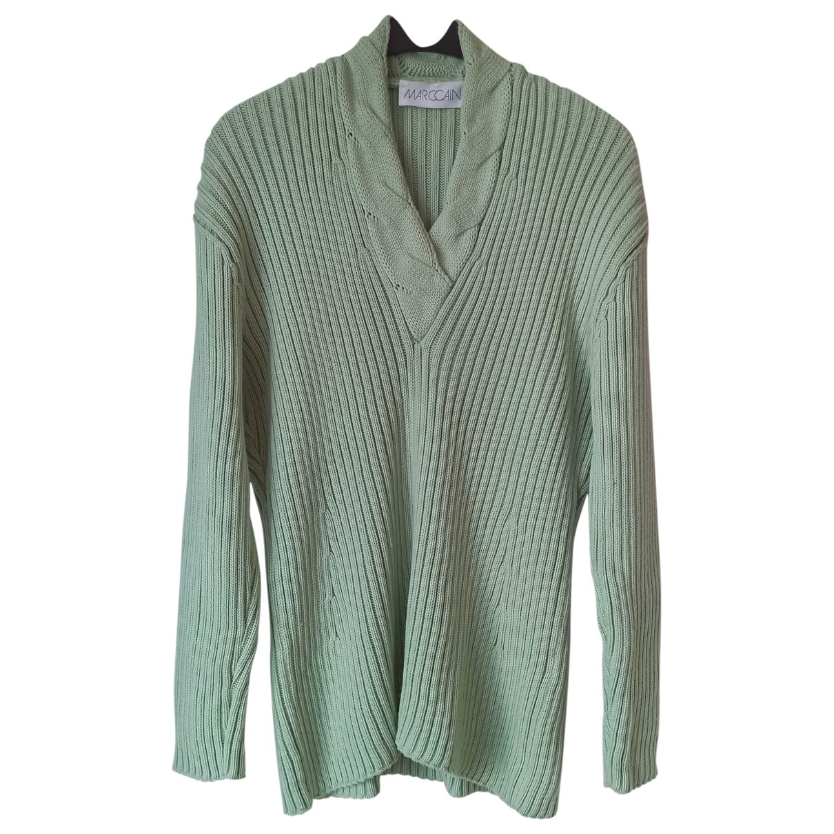 Marc Cain \N Pullover in  Gruen Wolle