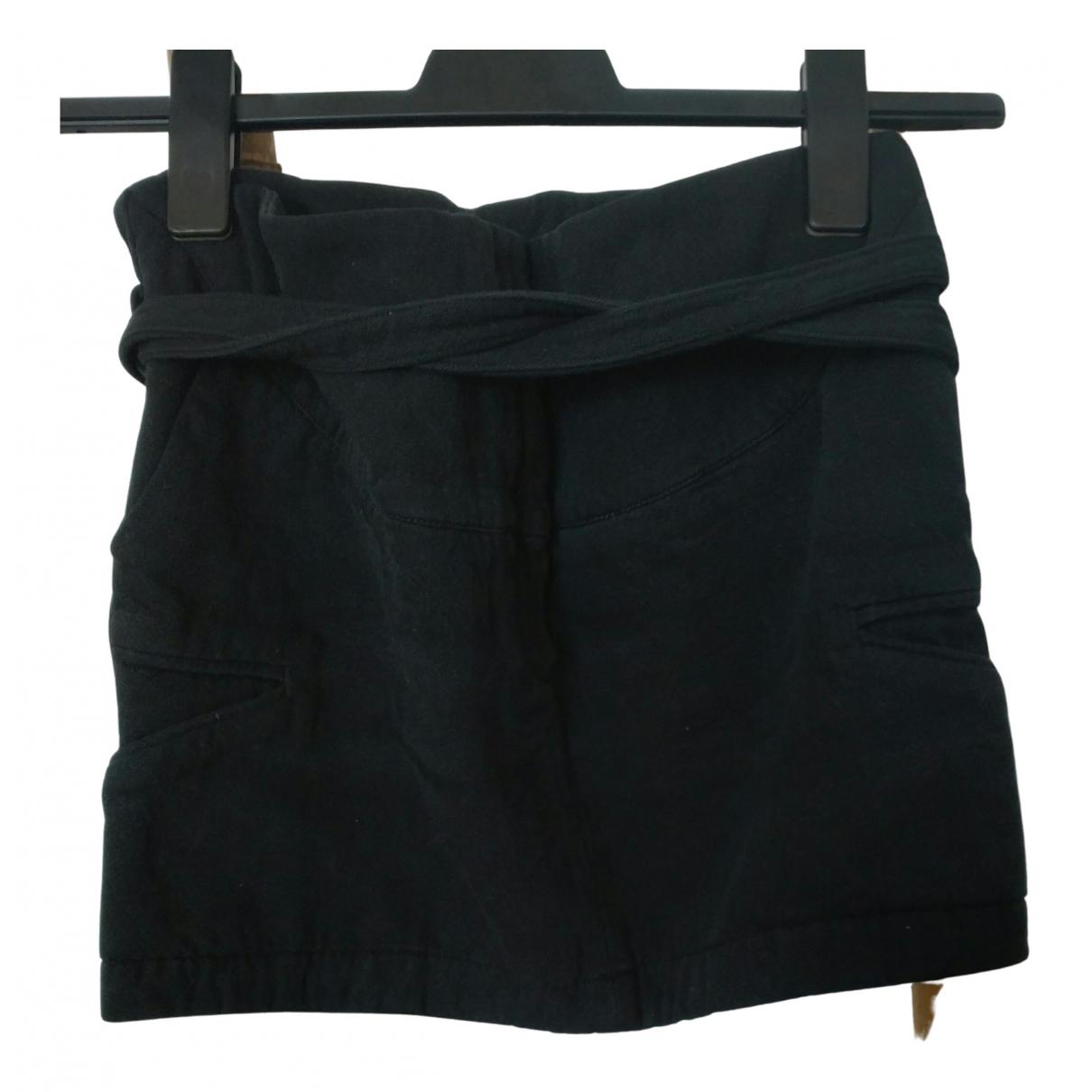 Iro N Black Cotton skirt for Women 1 0-5