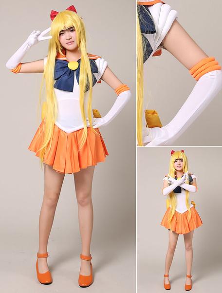 Milanoo Halloween Sailor Moon Sailor Saturn Halloween Cosplay Disfraz Spandex Guantes Tomoe Hotaru