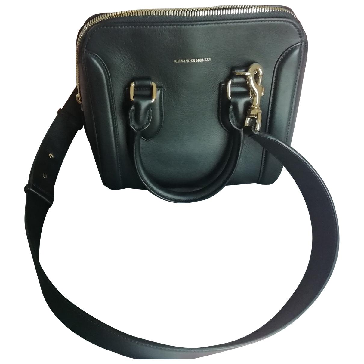 Alexander Mcqueen Heroine Handtasche in  Schwarz Leder