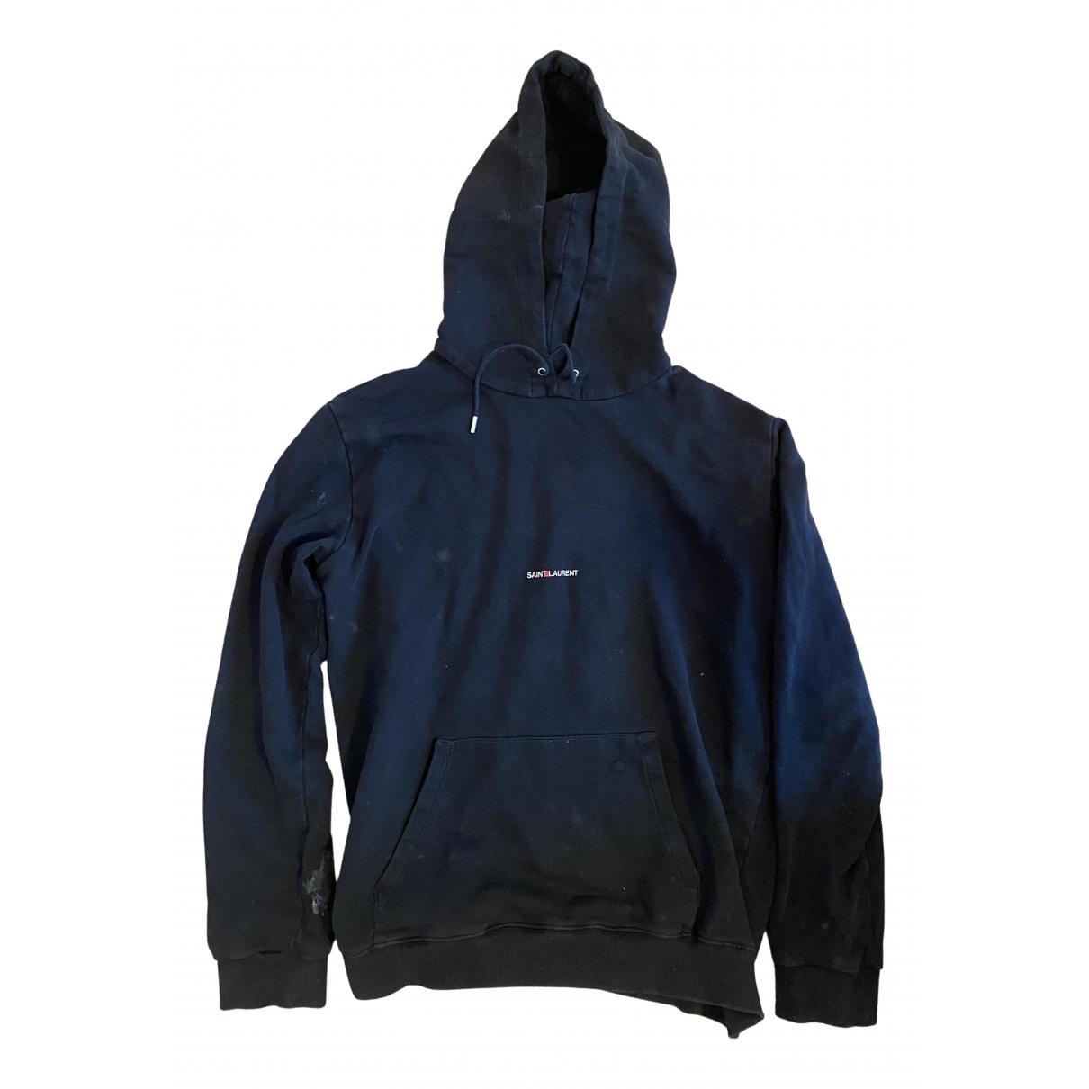 Saint Laurent N Black Cotton Knitwear & Sweatshirts for Men XXL International
