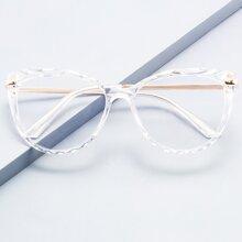 Gafas de ojo de gato de marco transparente