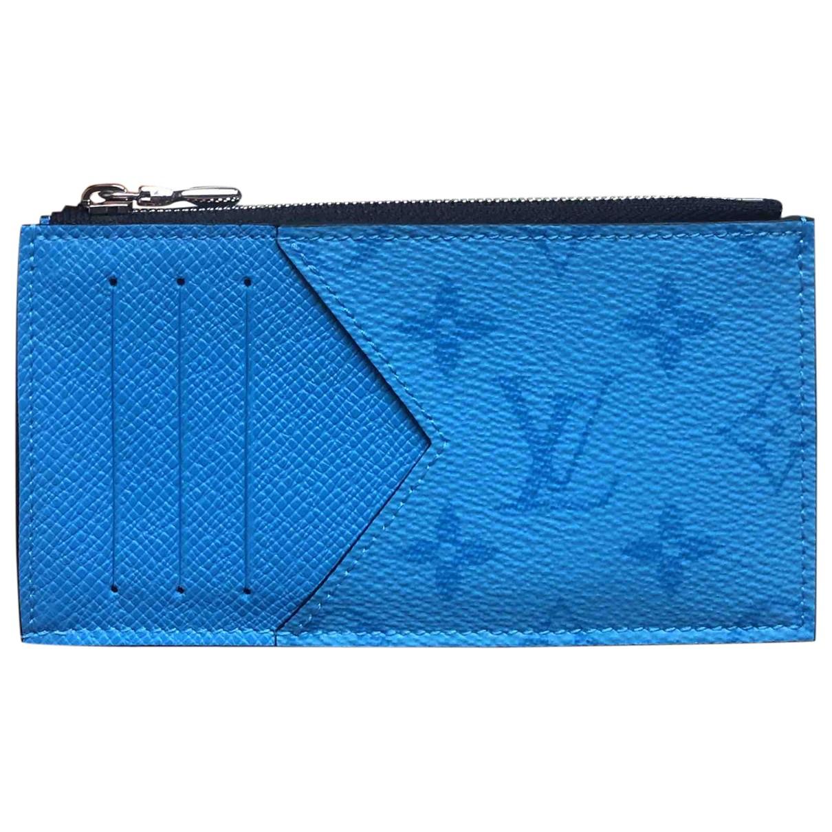 Louis Vuitton \N Blue Cloth Purses, wallet & cases for Women \N