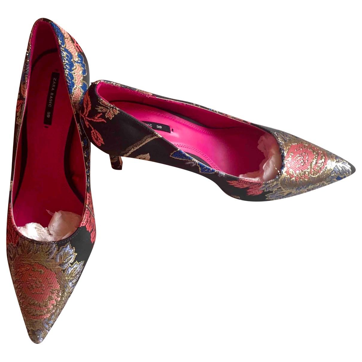 Zara - Escarpins   pour femme en toile - multicolore