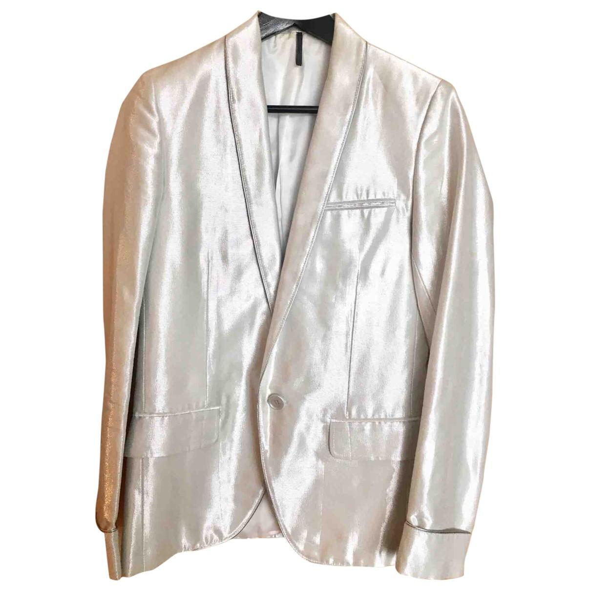 Dior Homme \N Jacke in  Silber Baumwolle