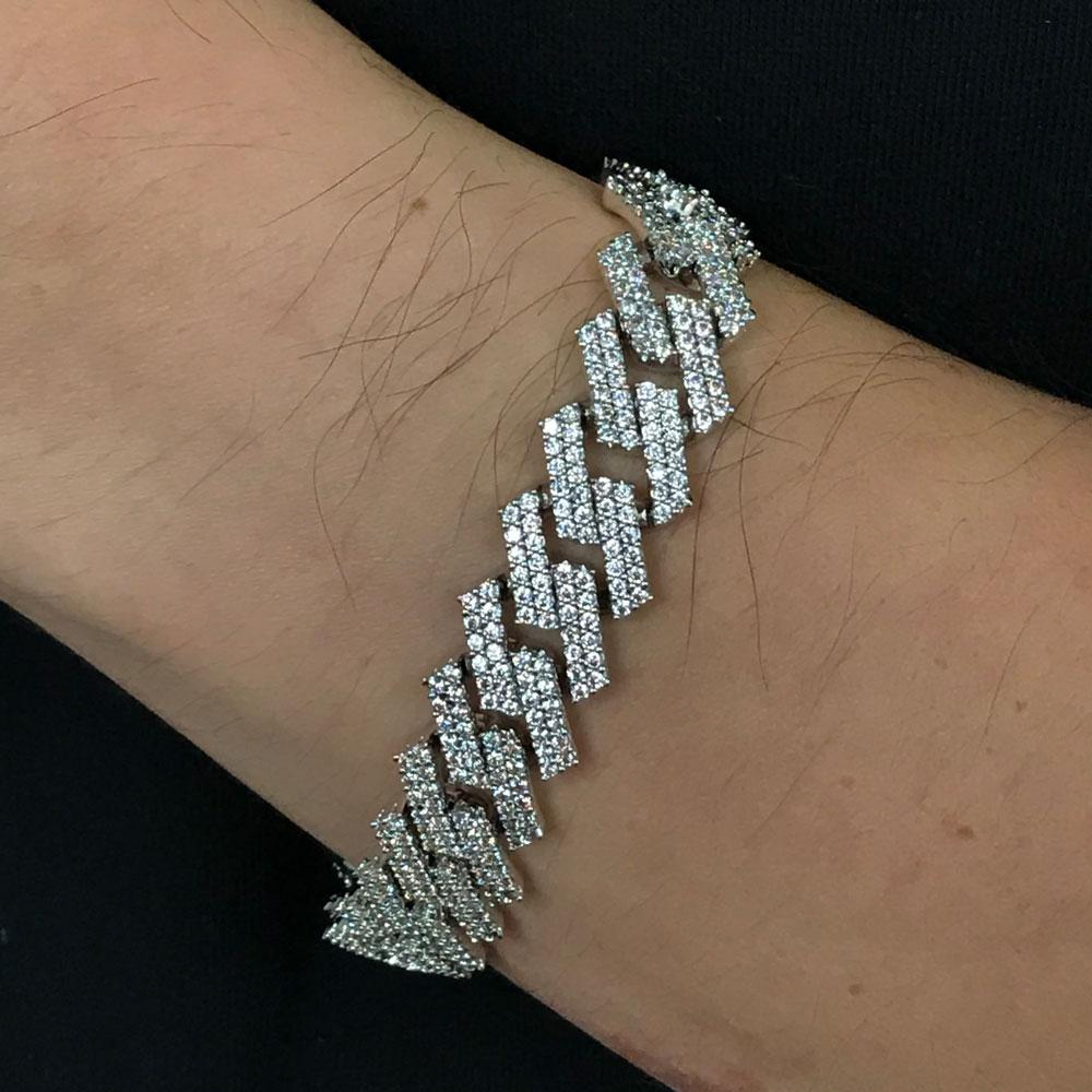 Sharp Cuban 14MM Iced Out Bracelet