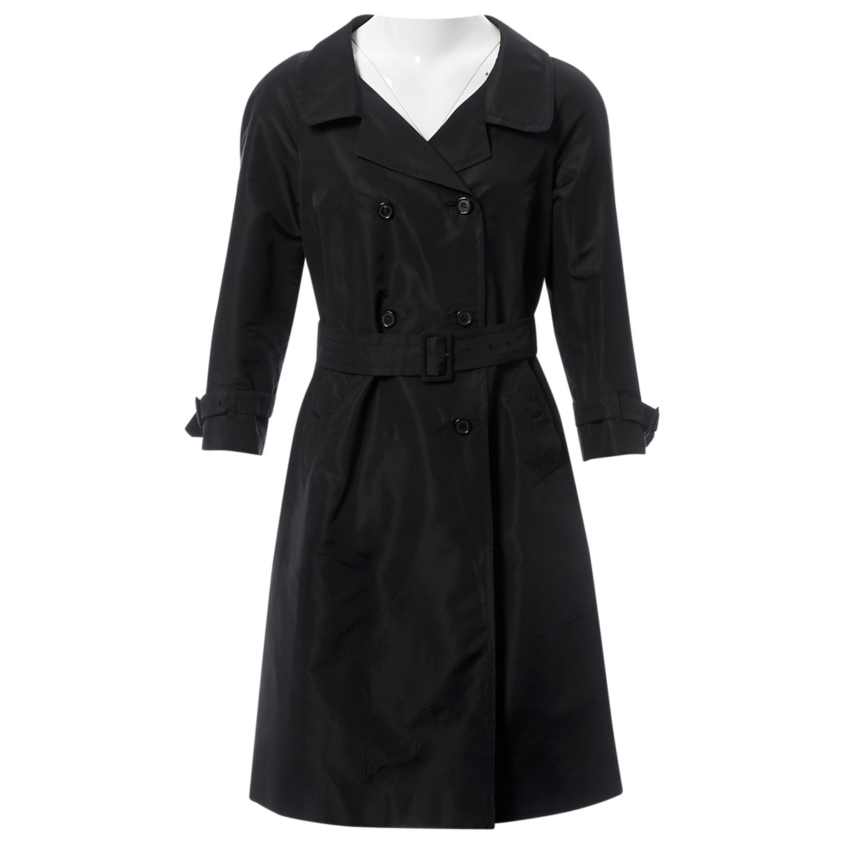 Prada \N Black Silk coat for Women 42 IT