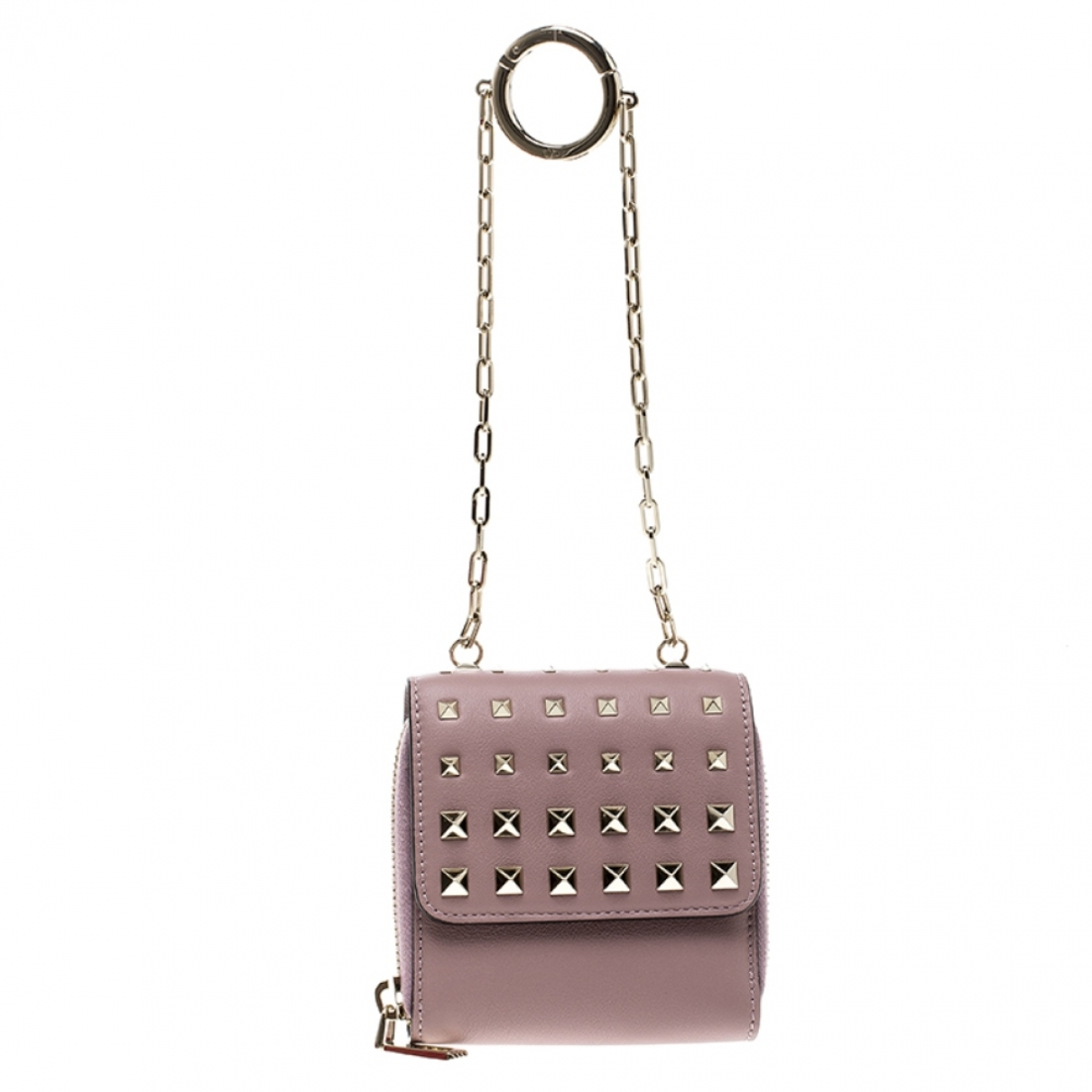 Valentino Garavani Rockstud Beige Leather Clutch bag for Women \N