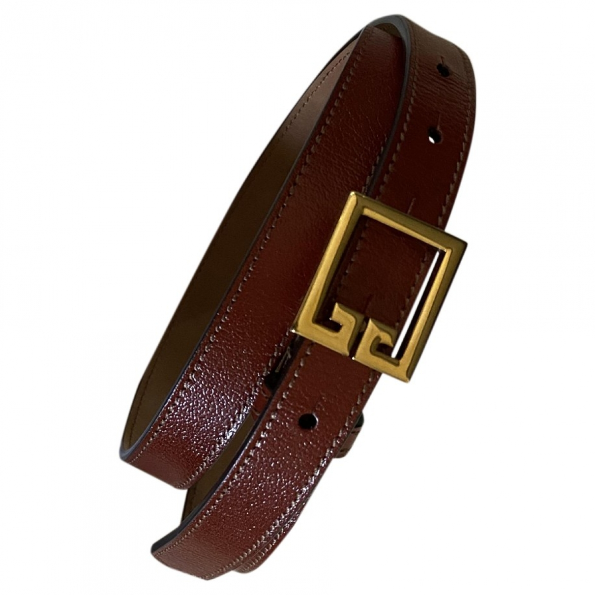 Givenchy \N Brown Leather belt for Women 90 cm