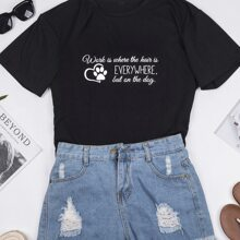 Plus Heart And Slogan Graphic Tee