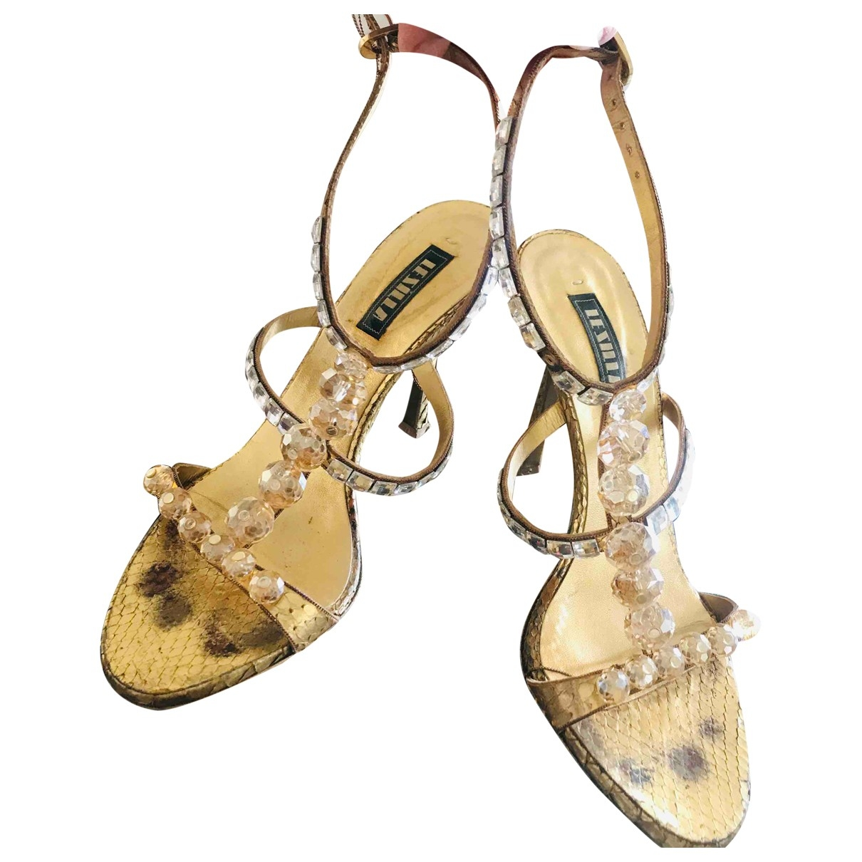Le Silla \N Gold Water snake Sandals for Women 37.5 EU