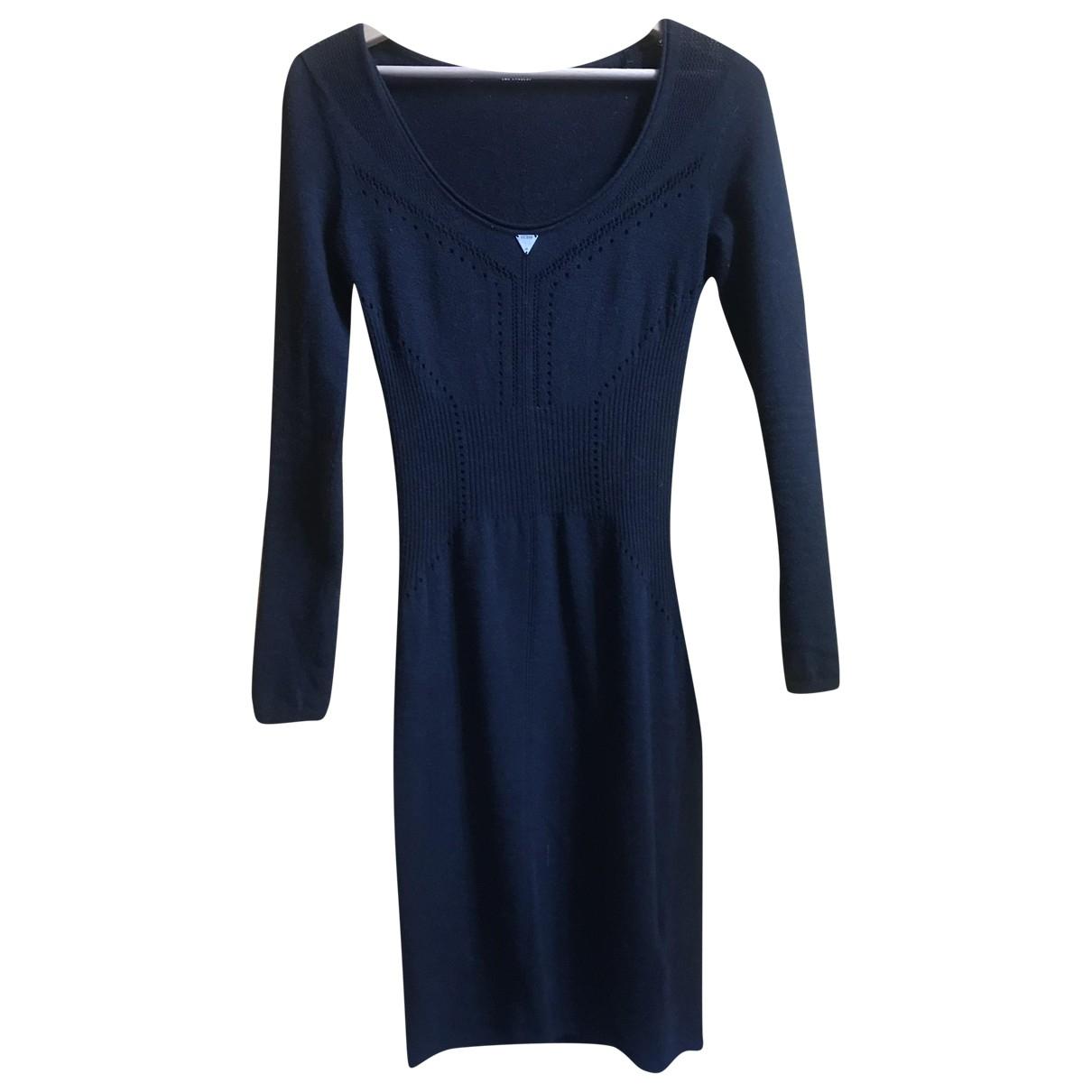 Guess \N Kleid in  Schwarz Wolle