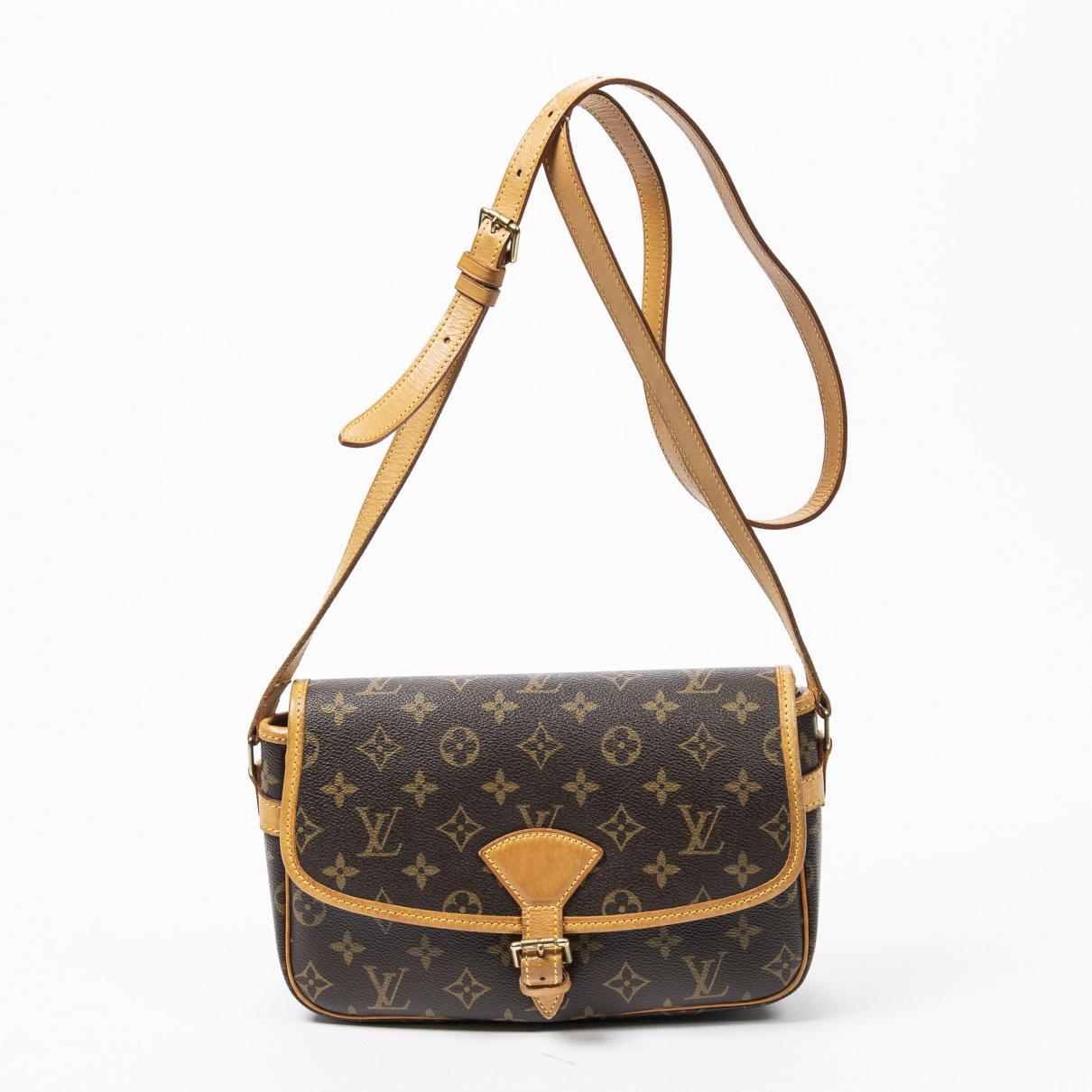 Louis Vuitton Sologne Handtasche in  Braun Baumwolle