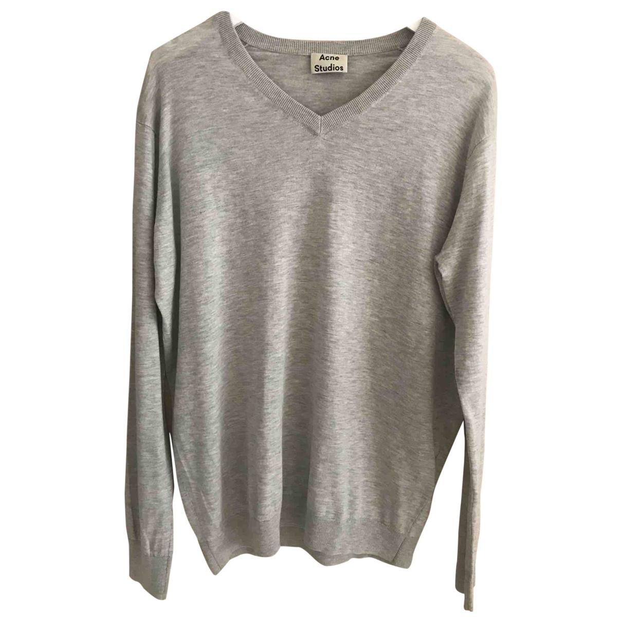 Acne Studios - Pull   pour femme en coton - gris