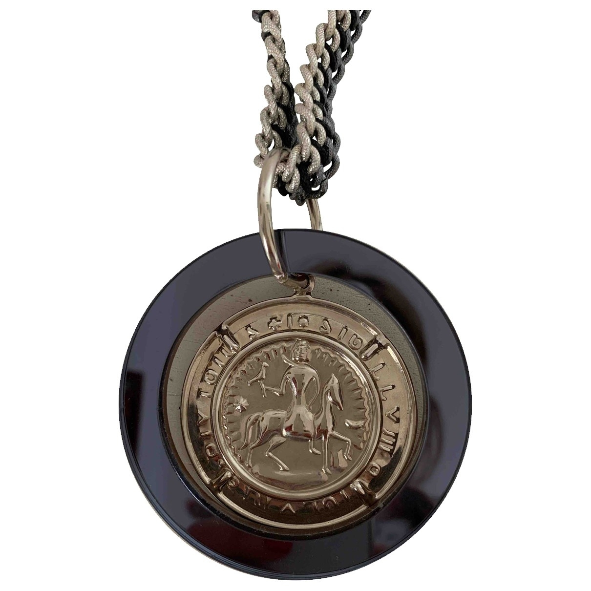 Non Signé / Unsigned Médailles Silver Long necklace for Women \N