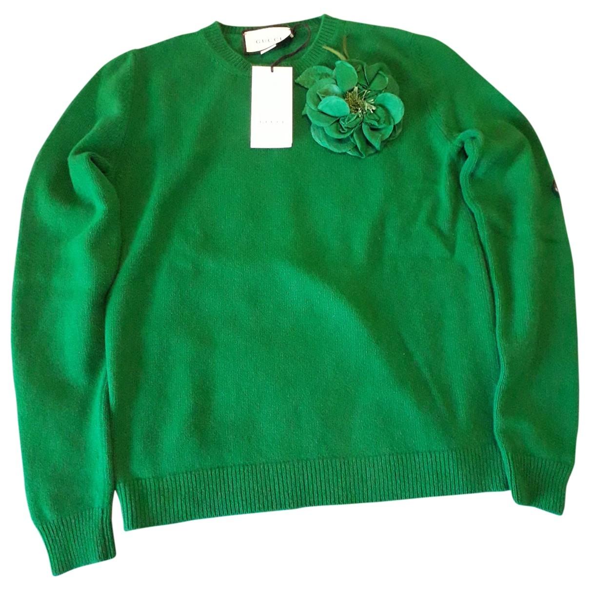Gucci - Pull   pour femme en laine - vert