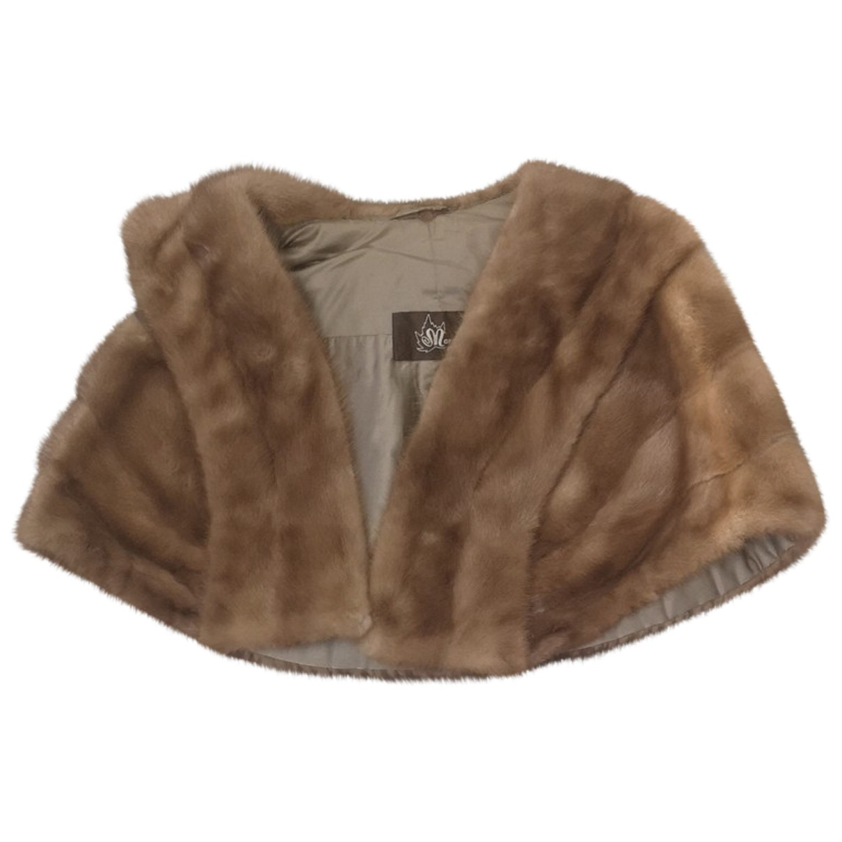 Non Signé / Unsigned N Gold Mink jacket for Women One Size International