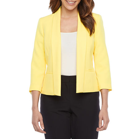 Black Label by Evan-Picone Suit Jacket, 18 , Yellow