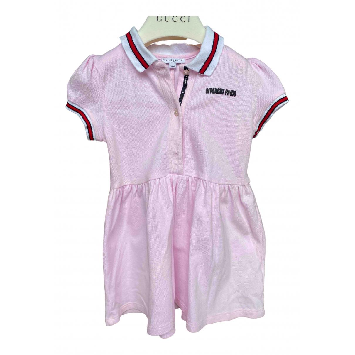 Givenchy - Robe    pour enfant en coton - rose